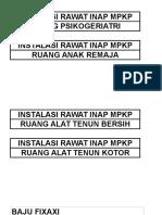 Instalasi Rawat Inap Mpkp (Bangau)