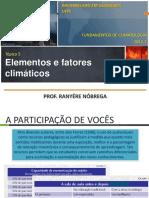 Climatologia - Elementos e fatores climáticos