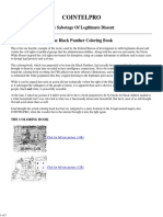 FBI COINTELPRO Black Panthers FAKE Coloring Book