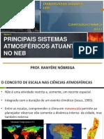 Climatologia - Principais sistemas atmosféricos atuantes no nordeste brasileiro - NEB
