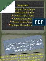 13.2 PROCESOS ALTERNATIVOS EN FUNDICIÓN PARA MOLDS DESECHABLES