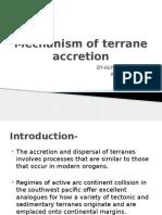Mechanism of Terrane Accretion