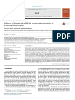 Influence of butanol–diesel blends on particulate emissions of a non-road diesel engine