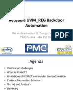 D2A1-2-2-DV Reusable UVM REG Backdoor Slides