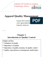 Apparel Quality Management