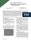 Textured Enhanced Image De-noising using Fast Wavelet Transform
