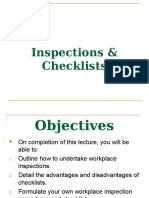Inspections & Checklists