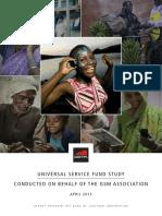 GSMA2013 Report SurveyOfUniversalServiceFunds