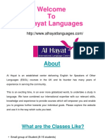 Al-Hayat Language Centre offers courses which are UKBA and British Council approved