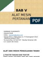 Bab v. Alat Dan Mesin Pertanian