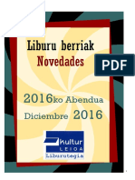 2016ko abenduko liburu berriak -- Novedades de diciembre del 2016