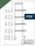 plano estructurado de un pórtico