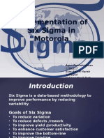 Implementation of Six Sigma in Motorola