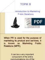 Topik 8 - Marketing Pr