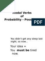 Modal Verbs of Probabili - Possibility
