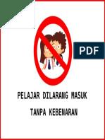 Label Pelajar Dilarang Masuk