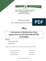 Application de Gestion Des Notes Dexamen