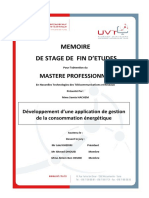 Application Gestion Consommation Energetique