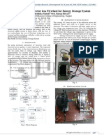 Application of Inverter Less Flywheel for Energy Storage System