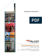 Falcon Exhibitions Pvt. Ltd - 2016 Company Profile