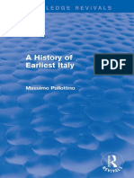 A History of Earliest Italy - Massimo Pallattino