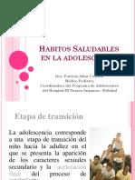 Habitos Saludables en La Adolescencia. Patricia Castillo. Perú PDF