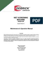 DERRICK1-Wet Screening Machine Manual - M Motor
