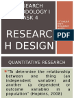 QUANTITATIVE and Qualitative Research Design