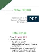 Embryology - Fetal Period