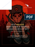 Fancy Bear Tracks Ukrainian Artillery