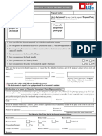 Addendum to Electronic Proposal Form