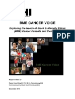 bhi - bme cancer voice bme cancer patient experience - nhs england 2015 report