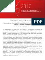 XII Reunión de Antropología del Mercosur, 2017 - Primera Circular