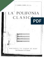 Rubio. La Polifonía Clásica.