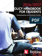 Handbook for Berklee