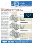 BCV Incorpora Progresivamente Monedas de 10 50 y 100 Bolívares (COMUNICADO)
