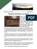 Pastor Bill Kren's Newsletter - January 1, 2017