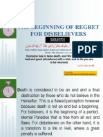 The Beginning of Regret for Disbelievers