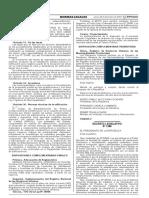 D. Leg 1288 que modifica la Ley Nº 28294, ley que crea el  Sistema Nacional Integrado de Catastro y su vinculación con el Registro de Predios