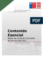 Contenido Esencial Bases Licitación del Transantiago