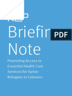 K2P Briefing Note_Syrian Refugees