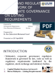 LEGAL AND REGULATORY FRAMEWORK OF CORPORATE GOVERNANCE- LISTING REQUIREMENTS.pptx