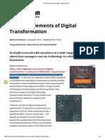 The Nine Elements of Digital Transformation