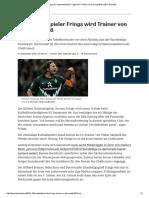 Bundesliga_ Ex-Nationalspieler Frings Wird Trainer Von Darmstadt 98
