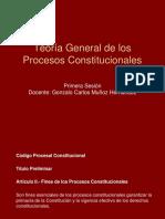 Tema 1 - Diapositivas - Teoría General de Los Procesos Constitucionales
