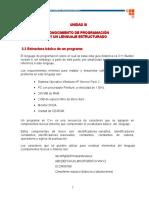 3.3 Estructura Básica de Un Programa