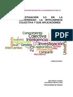 Muñoz, E. Moreno, J. Investigación 2.0 Inteligencia Colectiva y Sus Aplicaciones