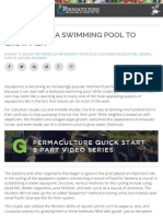 Converting a Swimming Pool to Grow Fish - The Permaculture Research Institute