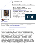 Geography, Military Geography, And Critical Military Studies, Critical Military