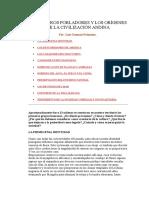 La Primeros Pobladores y Los Orígenes de La Civilización Andin1